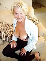 Sensual senior lady shows her natural mature body